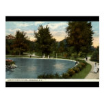 Lake at Downing Park, Newburgh NY 1919 Post Card