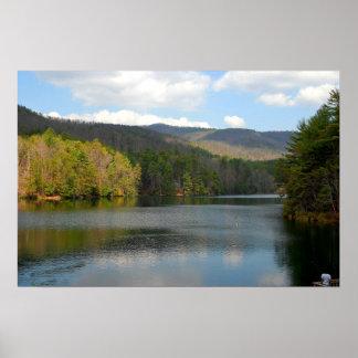 Lake at Helen Georgia Poster