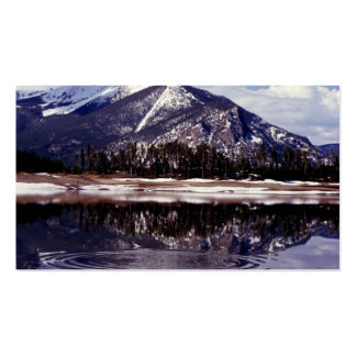 Lake at Rocky Mountains Colorado Business Card Template
