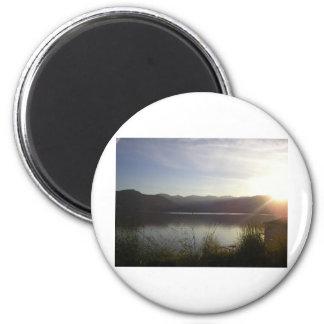lake at sunset magnet