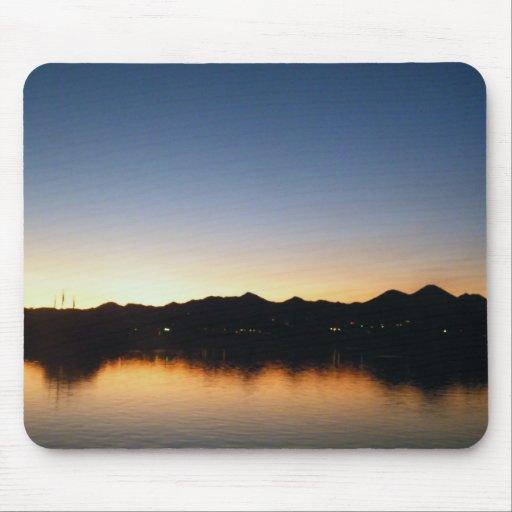 lake at sunset mouse pad