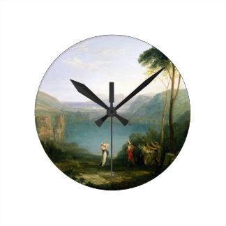 Lake Avernus: Aeneas and the Cumaean Sibyl, c.1814 Round Wallclock