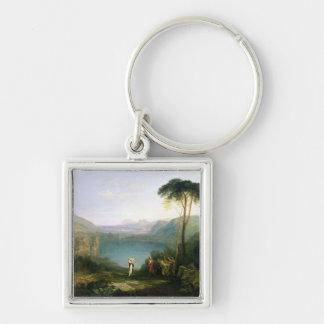 Lake Avernus: Aeneas and the Cumaean Sibyl, c.1814 Keychain