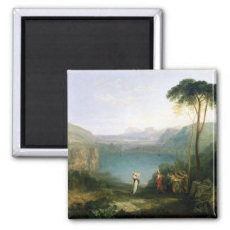 Lake Avernus: Aeneas and the Cumaean Sibyl, c.1814 Magnet