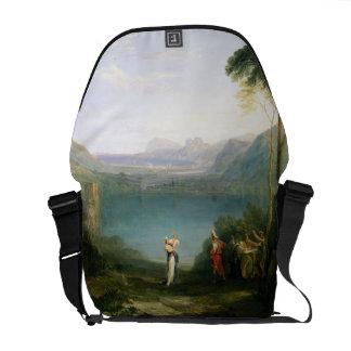 Lake Avernus: Aeneas and the Cumaean Sibyl, c.1814 Messenger Bag