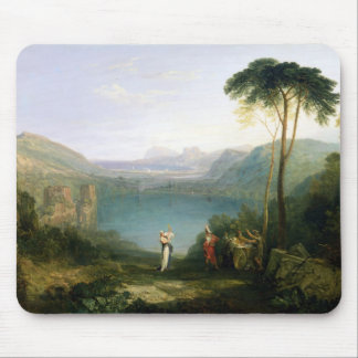 Lake Avernus: Aeneas and the Cumaean Sibyl, c.1814 Mouse Pad