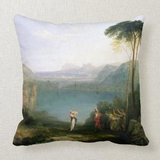 Lake Avernus: Aeneas and the Cumaean Sibyl, c.1814 Throw Pillows