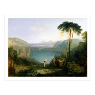 Lake Avernus: Aeneas and the Cumaean Sibyl, c.1814 Postcard