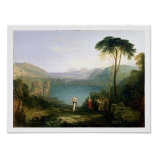 Lake Avernus: Aeneas and the Cumaean Sibyl, c.1814 Poster
