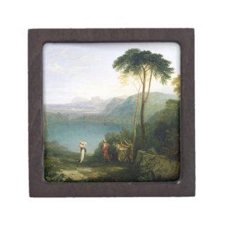 Lake Avernus: Aeneas and the Cumaean Sibyl, c.1814 Premium Jewelry Boxes
