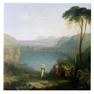Lake Avernus: Aeneas and the Cumaean Sibyl, c.1814 Ceramic Tiles