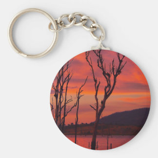 Lake Awoonga sunset round keyring