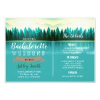 Lake bachelorette party invitation