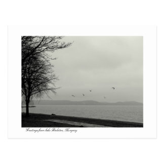 Lake Balaton scenery b&w Postcard
