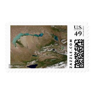 Lake Balkhash in eastern Kazakhstan Postage