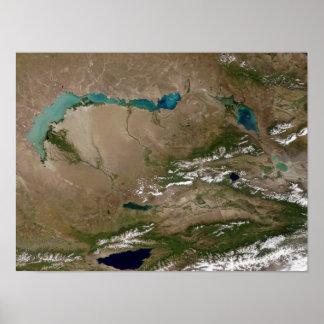 Lake Balkhash in eastern Kazakhstan Print