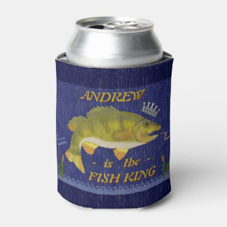 Lake Bass Fishing Fish King | Custom Anglers Name Can Cooler