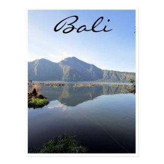 lake batur bali postcard