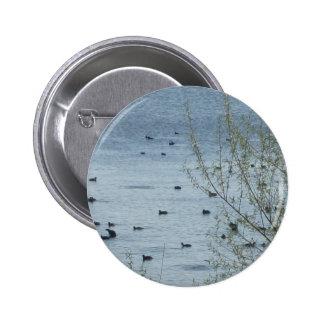 Lake Birds Button