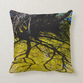 Lake Birrabeen-fraser island Throw Pillow
