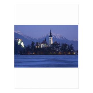 Lake Bled at Dusk Postcards