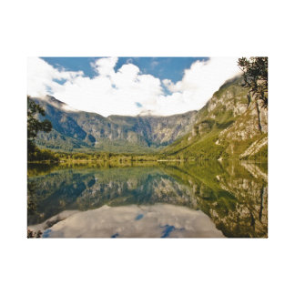 Lake Bled Stretched Canvas Print