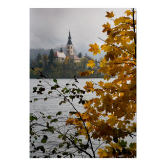 Lake Bled in Autumn Poster