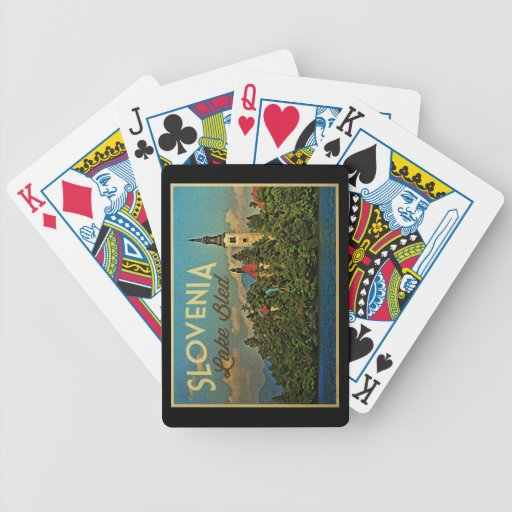 Lake Bled Slovenia Playing Cards