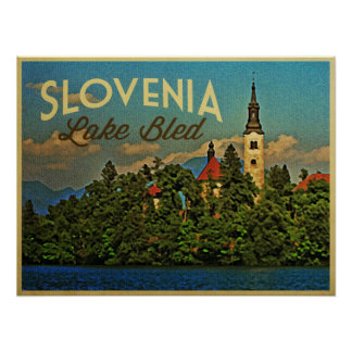Lake Bled Slovenia Poster