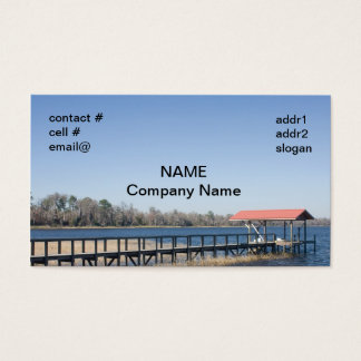 lake boat dock business card