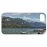 Lake Boats and Mountains in Annecy France iPhone 5 Cases