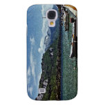 Lake Boats and Mountains in Annecy France Samsung Galaxy S4 Cover