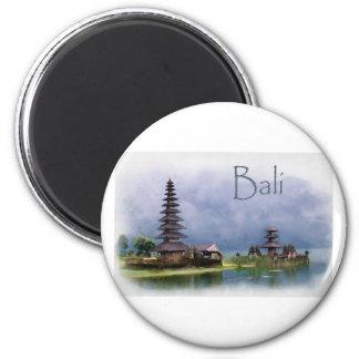 Lake Bratanan Bali Indonesia 2 Inch Round Magnet