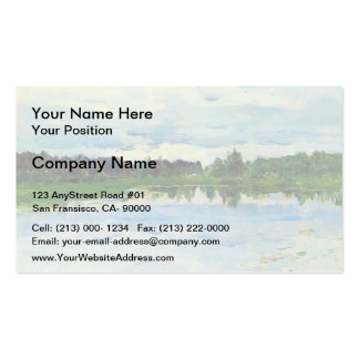 Lake by Isaac Levitan Double-Sided Standard Business Cards (Pack Of 100)