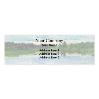 Lake by Isaac Levitan Double-Sided Mini Business Cards (Pack Of 20)
