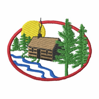 Lake Cabin Embroidered Hoody