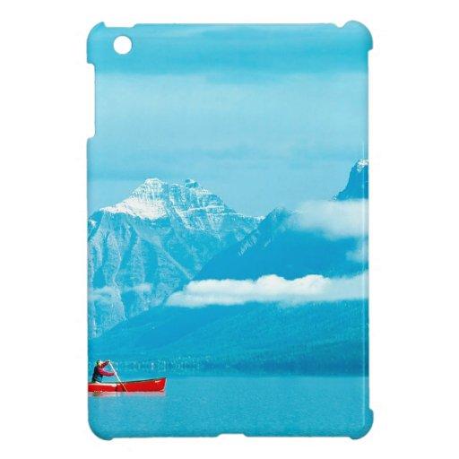 Lake Canoeing At Glacier Park Montana iPad Mini Cases