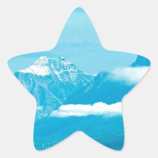 Lake Canoeing At Glacier Park Montana Star Sticker