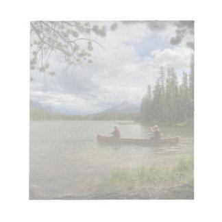 Lake Canoeing Memo Notepads
