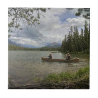 Lake Canoeing Ceramic Tile