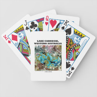 Lake Carnegie Western Australia Satellite Imagery Bicycle Playing Cards