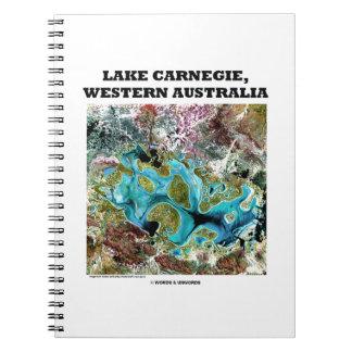 Lake Carnegie Western Australia Satellite Imagery Spiral Notebook