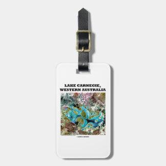Lake Carnegie Western Australia Satellite Imagery Tag For Luggage