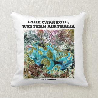 Lake Carnegie Western Australia Satellite Imagery Throw Pillow