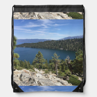 Lake Cascade In South Lake Tahoe Drawstring Backpack