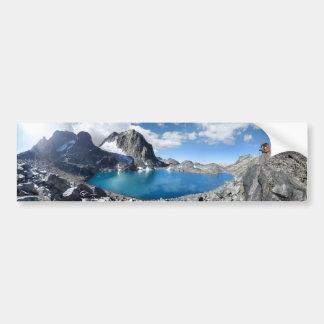 Lake Catherine and Banner Peak - Sierra Nevada Bumper Sticker