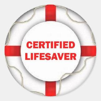 Lake Certified Lifesaver Classic Round Sticker
