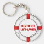 Lake Certified Lifesaver Keychain