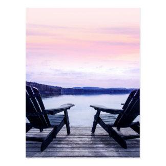 Lake chairs postcard