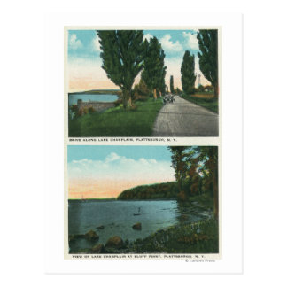 Lake Champlain Drive View Postcard